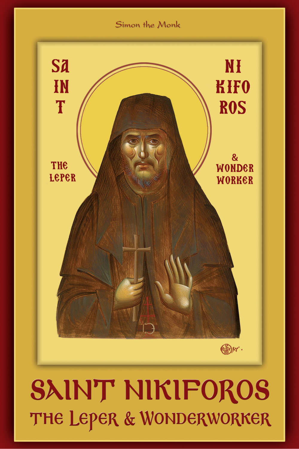 Saint Nikiforos the Leper and Wonderworker - english_cover