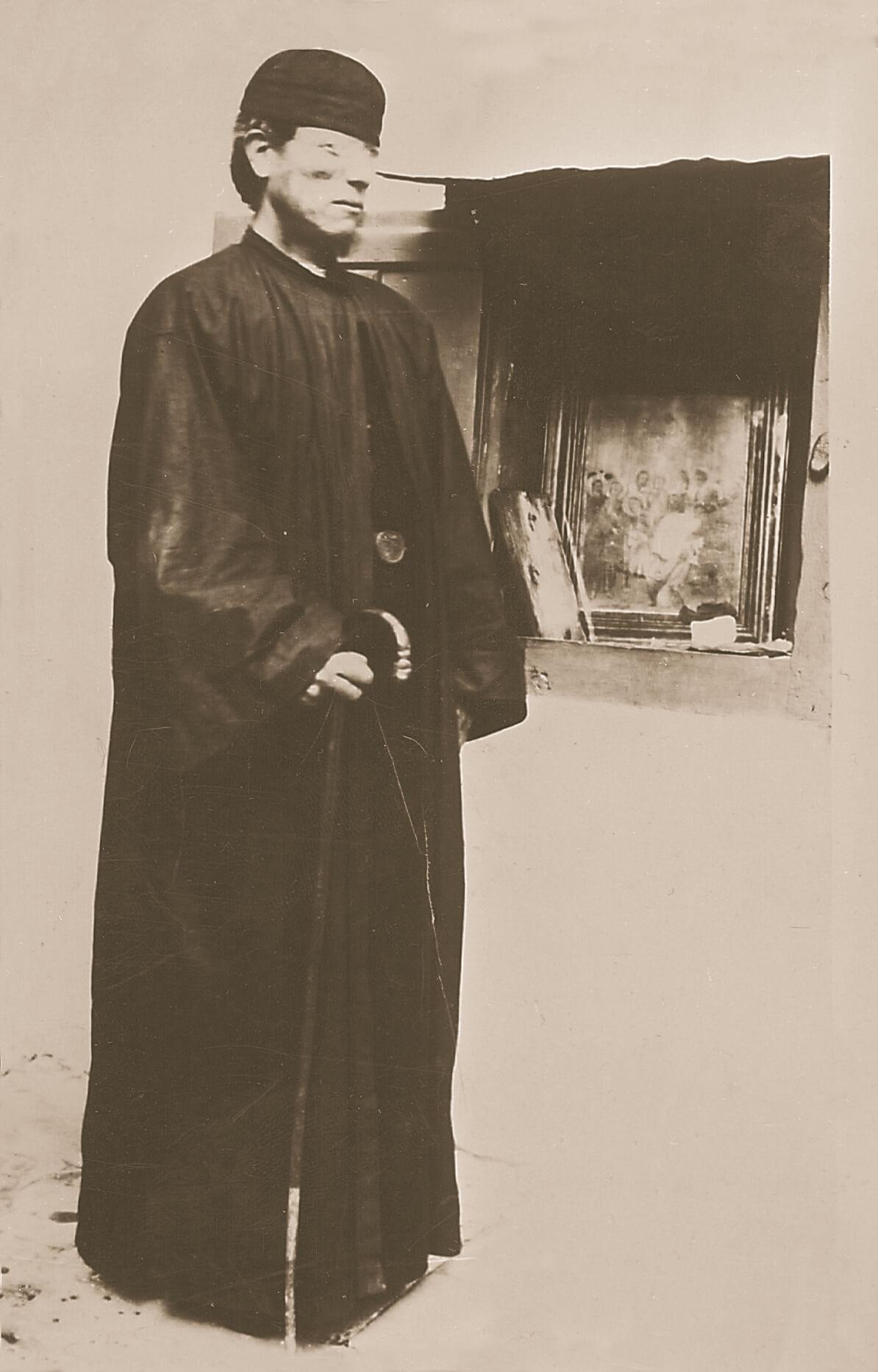 Ὁ ἅγιος Νικηφόρος μοναχός, στήν Χίο.